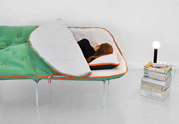 Mega Cozy: The Sleeping Bag Sofa #IncredibleThings