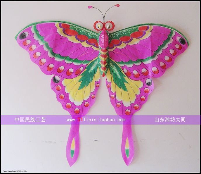 Free shipping Pure butterfly weifang kite decoration gifts handmade crafts