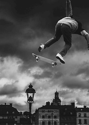 Skatemood. Available as poster at printler.com, the marketplace for photo art. Photographer Henrik Andersson.