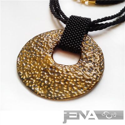 """Necklace """"Gold moon"""" made by JENA"""