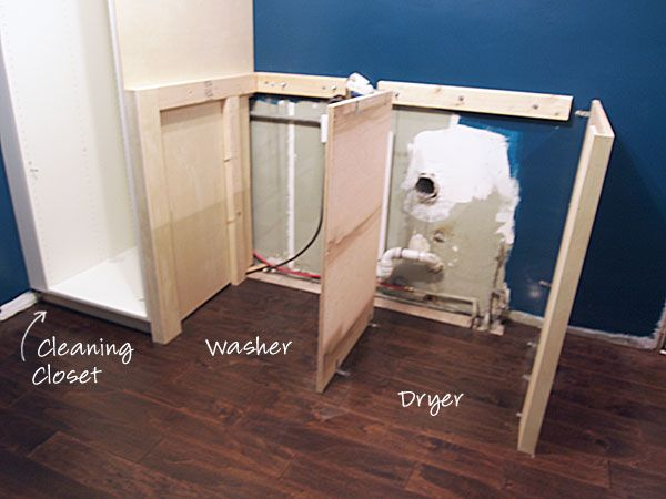 Laundry Room: Built-in Laundry Appliance Tutorial | Cape27Blog.com