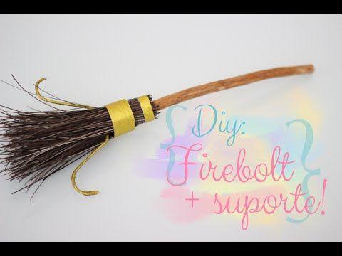 DIY: Vassoura Firebolt com suporte - Harry Potter!