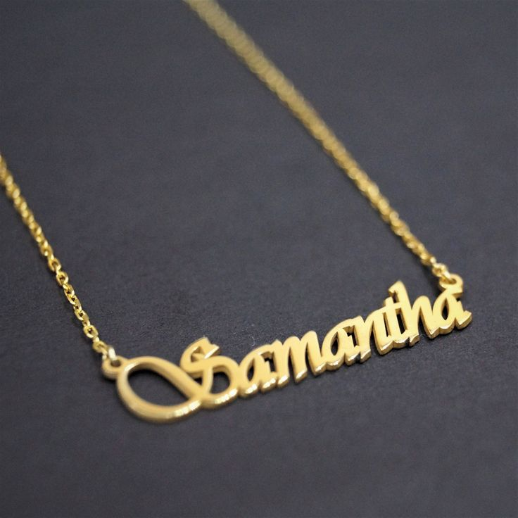 Personalized Name Necklace, Name Necklace Gold Necklace, Gold Necklace, Gold Name Necklace, Bridesmaid Gift, Tiny Gold Name Necklace, Silver