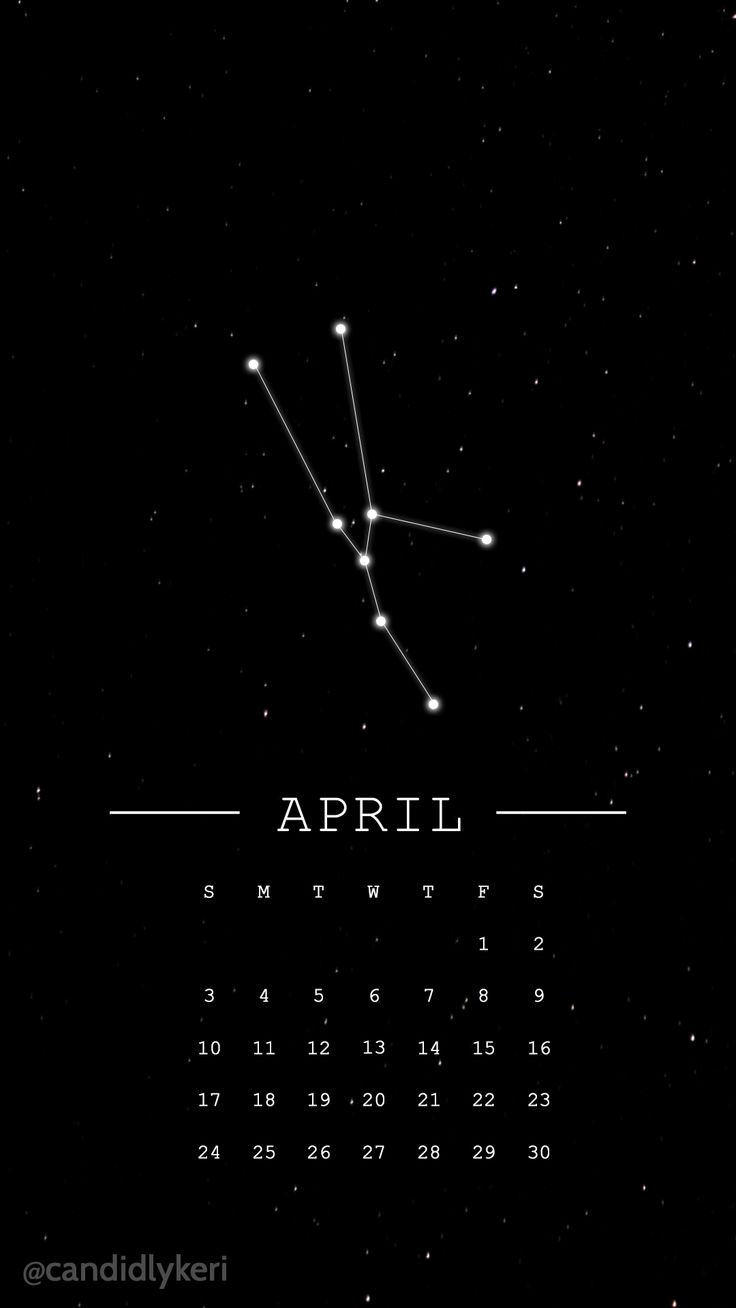 Taurus horoscope constellation for April 2016 calendar wallpaper black and white…