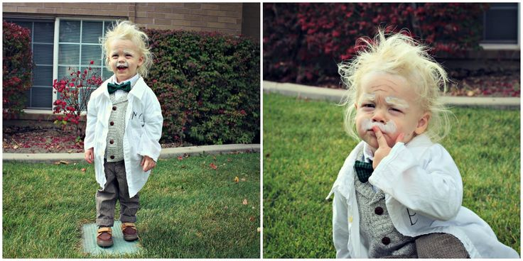 Toddler Albert Einstein Halloween Costume #Halloween #Costume #Toddler