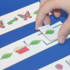 Here's a post with some ideas for making and using pattern strips in your classroom.: Strips Matching, Magnets Strips, Clip Art, Posts, Matching Games, Patterns Strips, Bags Ideas, Strips Clip, The Roller Coasters