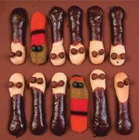 Czekoladowe dżdżownice, czyli biszkopty z czekoladą