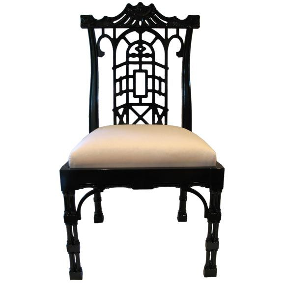 Reproduction chinese chippendale dining chair dining for Modern reproduction furniture