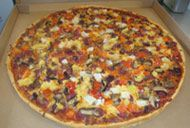 Pizza from the Kookaburra Cafe Paddington, all can be done GF except the chicken