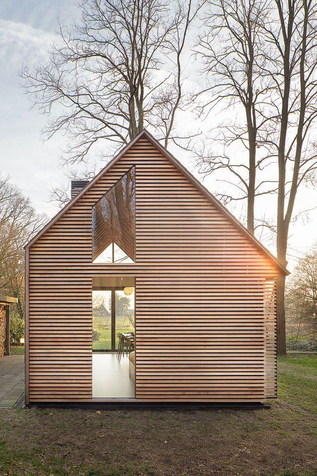 Asymmetrical Handmade Cabin in The Netherlands / by Zecc Architects & designer Roel van Norel