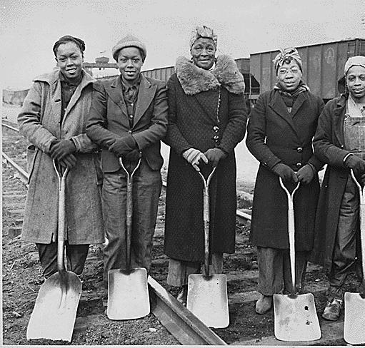 Trackwomen, 1943. Baltimore & Ohio Railroad Company, 1940 - 1945