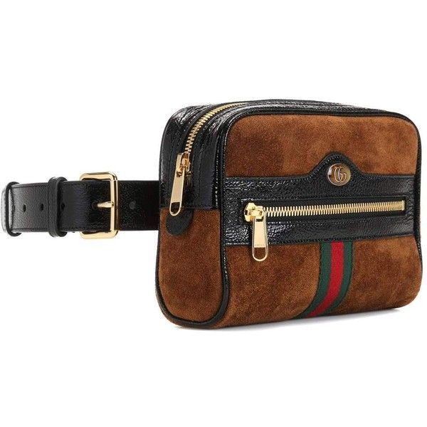 4660bdfbf007 Gucci Ophidia Small Suede Belt Bag ($1,065) ❤ liked on Polyvore featuring  bags, gucci bag and gucci