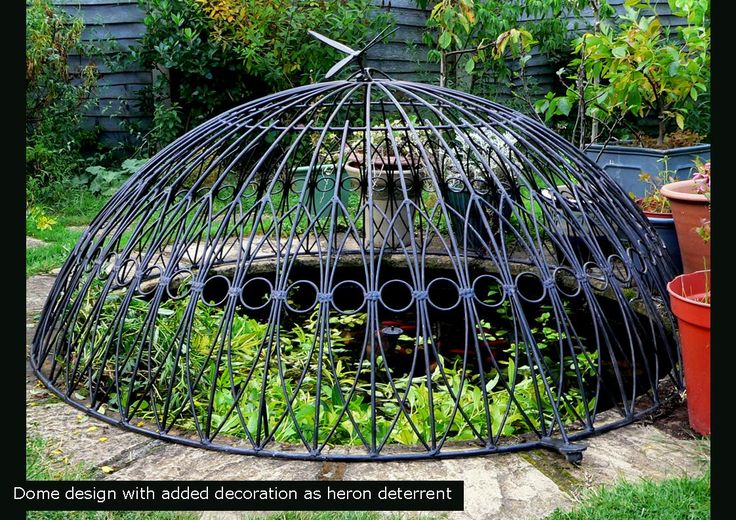 Pondcovers dome design galvanized steel child safety for Garden pond specialists