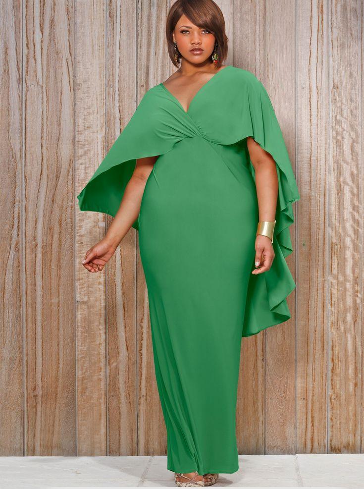 Best 25 green plus size dresses ideas on pinterest plus for Black tie wedding dresses plus size