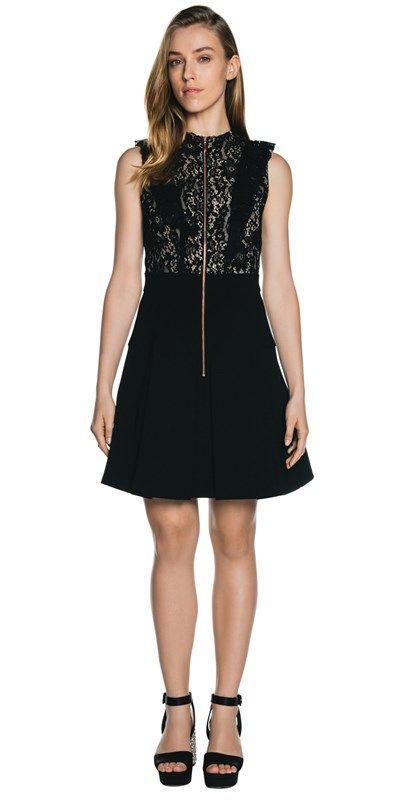 Dresses | Black Lace Ruffle Dress