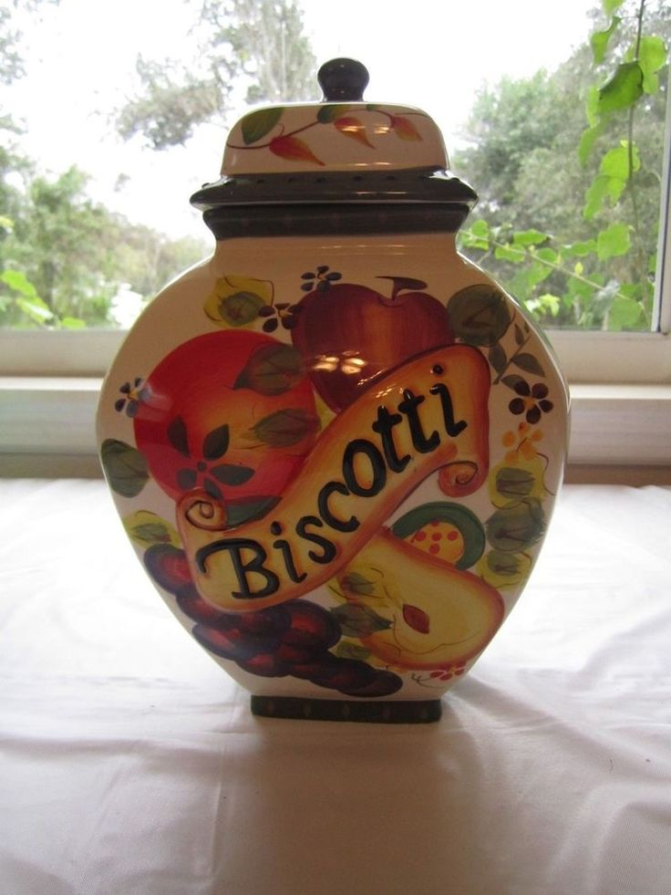 Nonni S Biscotti Jar Tuscan Fruit Ginger Jar Cookie