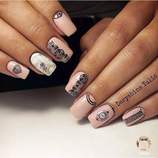 Mejores 186 imágenes de Beautiful nails en Pinterest   Beautiful ...