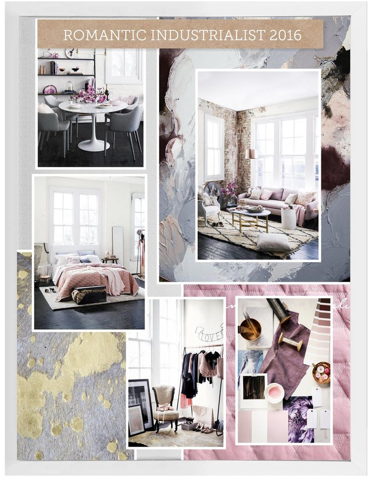 We've just created this beautiful moodboard using the House Rules powered by Home Beautiful App. Love it? #houserulesapp #homebeautiful #homelove #romantic #industrial #warehouse #pink #grey #texture #bedroom #dining