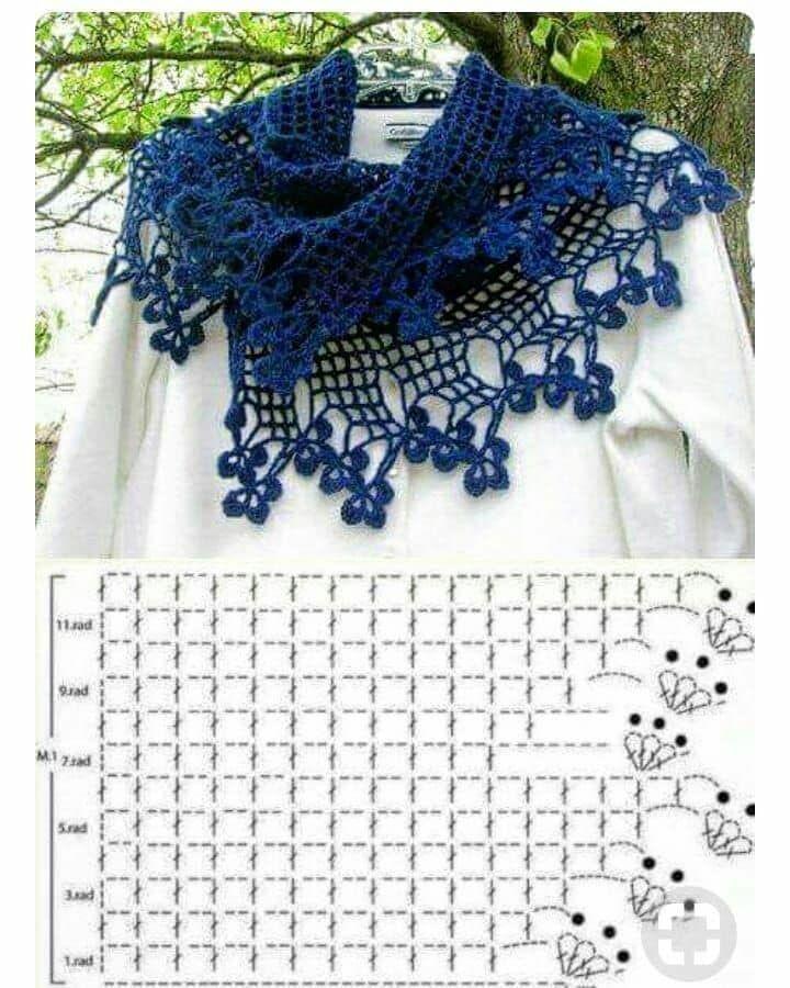 Pin de Rocio en Ganchillo   Pinterest   Crochet Shawl, Crochet y ...