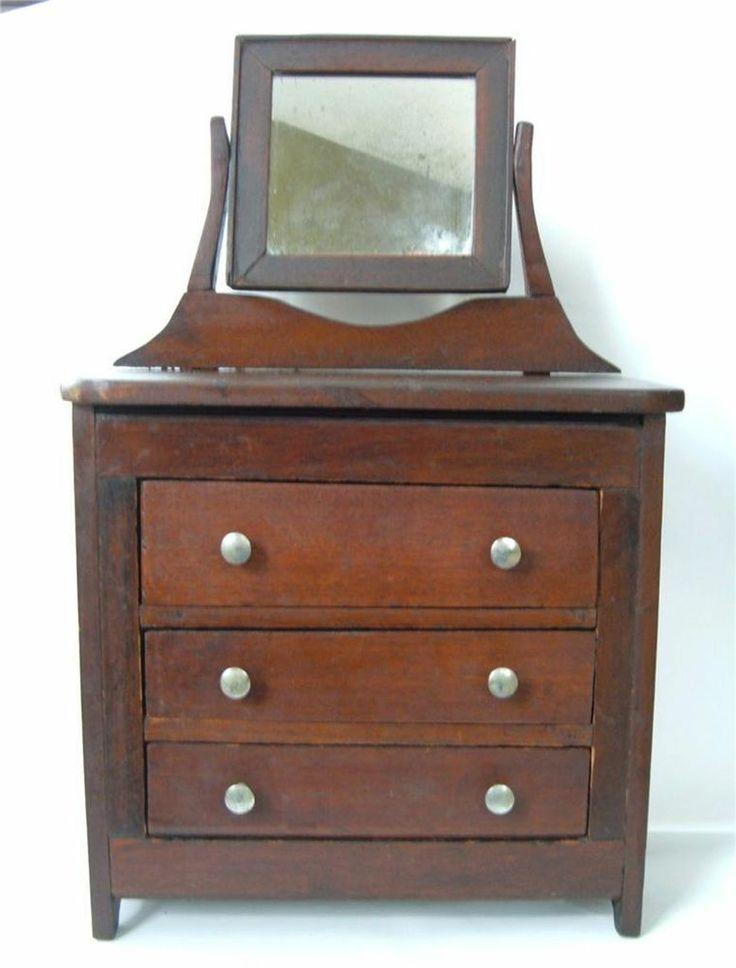 93 best images about antique toy dressers cupboards doll beds on pinterest miniature. Black Bedroom Furniture Sets. Home Design Ideas