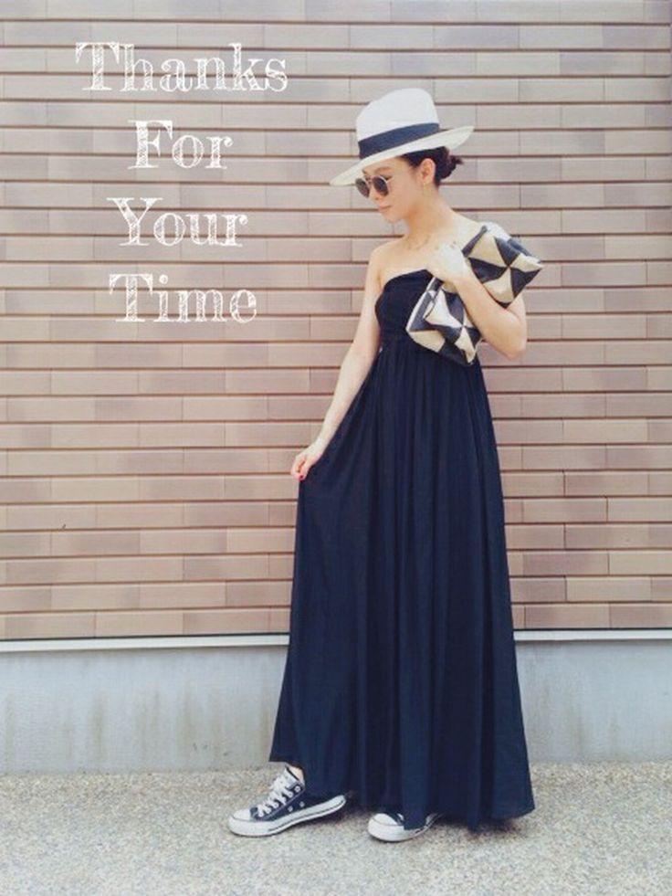 emaemiさんのワンピース「Deuxieme Classe ◆シルクデシン ベアトップワンピース」を使ったコーディネート