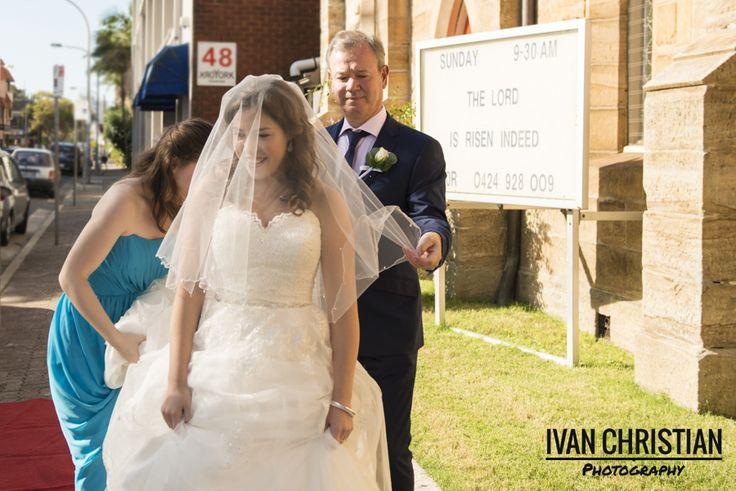The bride arrives! - Ivan Christian Photography