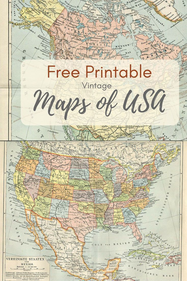 Wonderful Free Printable Vintage Maps To Download | Printables | Map ...