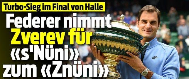 Federer = sackstark !! 9.Pokal im Gerry Weber Open !!