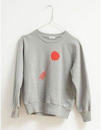 Grijze sweater met rode pijl - Picnik