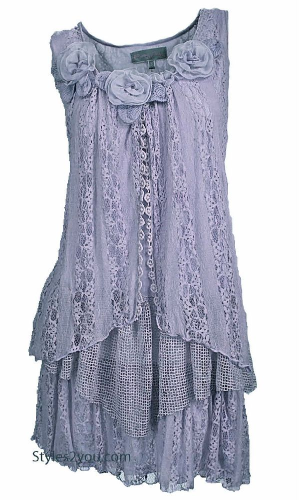 Pretty Angel Clothing Norma Tunic In Lavender *62520PU #PrettyAngelClothing #LaceTunic #Any