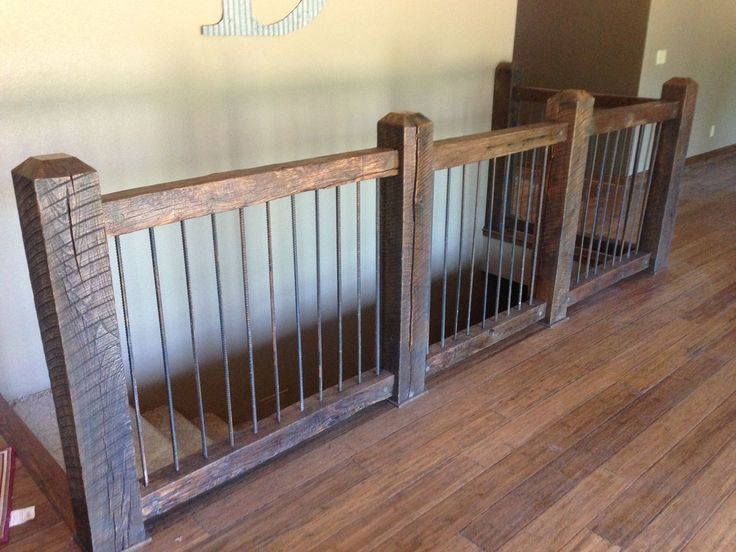 Use reclaimed wood for your staircase!  My blacksmith can make any type of railing!  We can do that! Www.rusticrevivalbarnwood.com