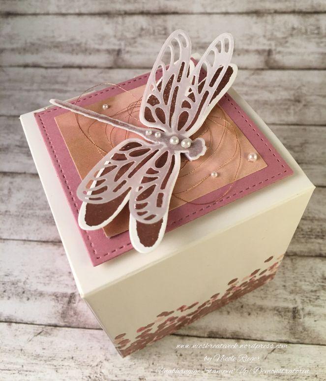 Stampin' Up! - Weiße Geschenkschachtel mit Li(e)belleien und Libelle