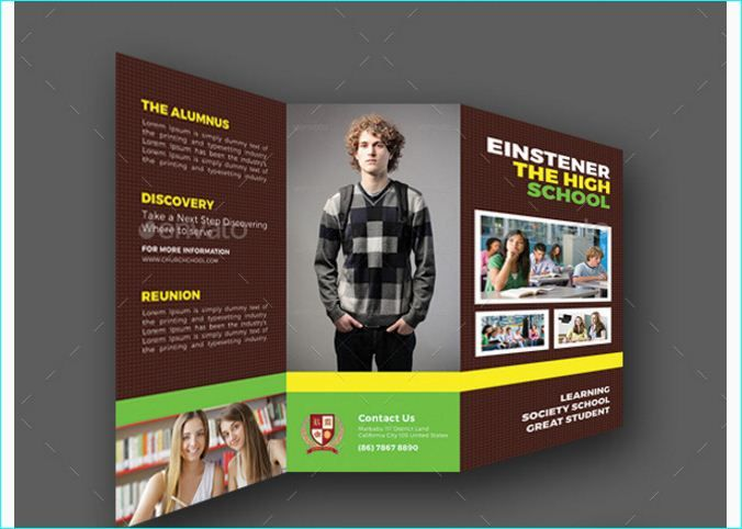 Best School Brochure Template Psd Images On   School