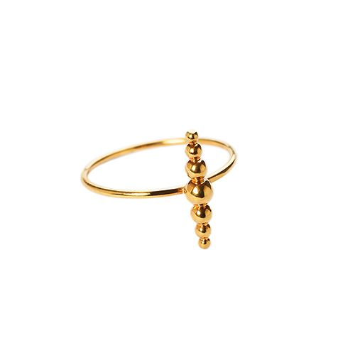 MARCEL BEDRO Jewelry. Bead Ring, gold plated silver