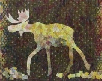 Laura Heine Maddox Collage Quilt Pattern, Woodland Quilt, Modern Quilt Pattern, Fiberworks, Wildlife Quilt