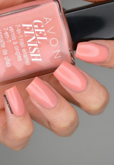 See blogger Cosmetic Proof swatch our Avon Gel Finish 7-In-1 Nail Enamel in Dazzle Pink