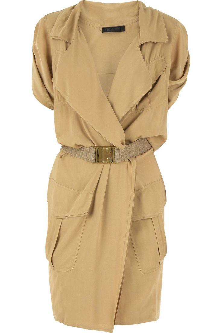 softly tailored safari-style dress