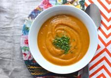 It's official: Soup season is here! Ring in the cooler weather with this super simple creamy sweet potato soup.