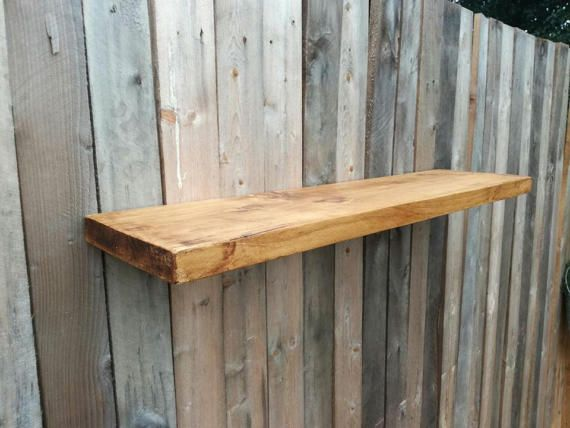 Floating shelf. Solid wood handcrafted from by TheWoodForgeCo