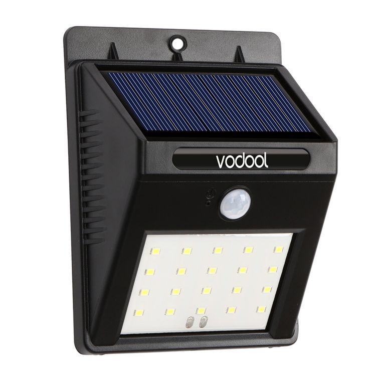 Solar Powered Solar Light 20 LED Waterproof IP65 Sense Light Infrared Sensors Lamp Outdoor Fence Garden Pathway Wall Light