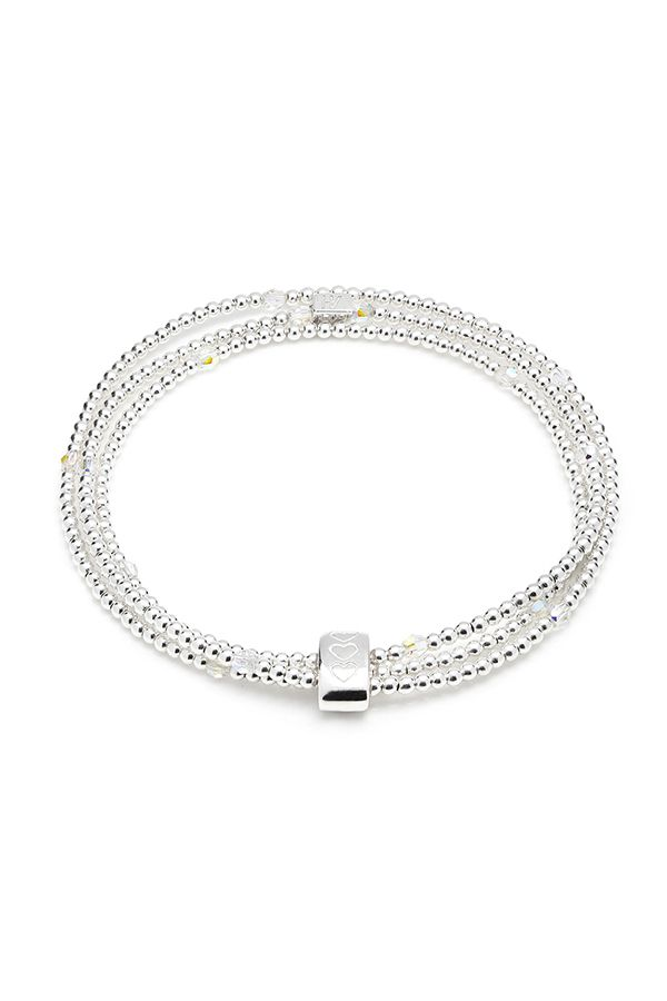 Stand out in the crowd with a statement bracelet? Our stunning Blissful Looped bracelet is one of a kind. Designed using genuine Swarovski crystal and 925 sterling silver beads, all hand beaded as one continuous length to create a beautiful masterpiece.