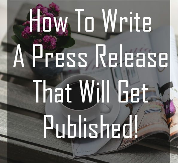 how to write a press release for a local newspaper