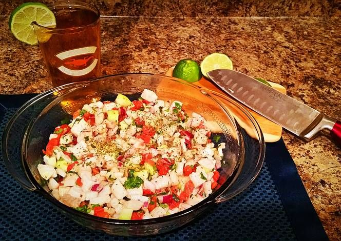 Tilapia Ceviche Recipe - Yummy this dish is very delicous. Let's make Tilapia Ceviche in your home!