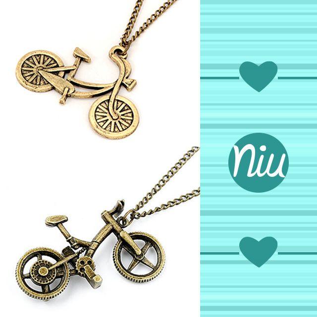 Collares con dijes de Bicicleta, encuentra esto y mucho más en: www.niuenlinea.co