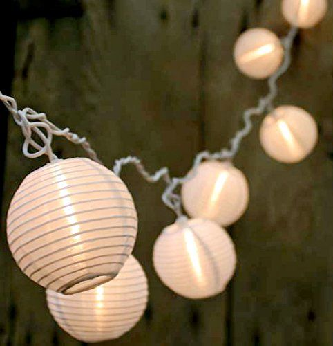 Qualizzi® Set of 10 Warm White Chinese Lantern String Lights for Patio 10.86ft Long - Mini Oriental Nylon Round Lanterns Indoor / Outdoor Plug-in Connectable & Expandable up to 162 Ft / 150 Lights Qualizzi Star Lights http://www.amazon.com/dp/B00LBOL148/ref=cm_sw_r_pi_dp_6GdVub09NVXK9