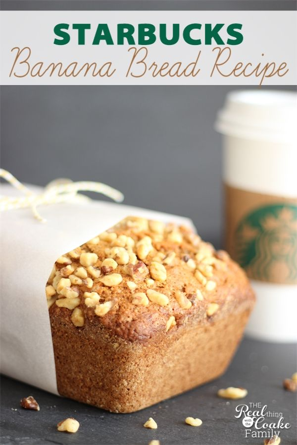 Delicious banana bread recipe! This is THE Starbucks banana bread recipe(not a knock-off) you can make at home...yum!