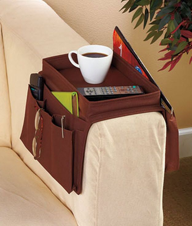 Tv Remote Holder Arm Rest Organizer Sofa Chair Couch Tray