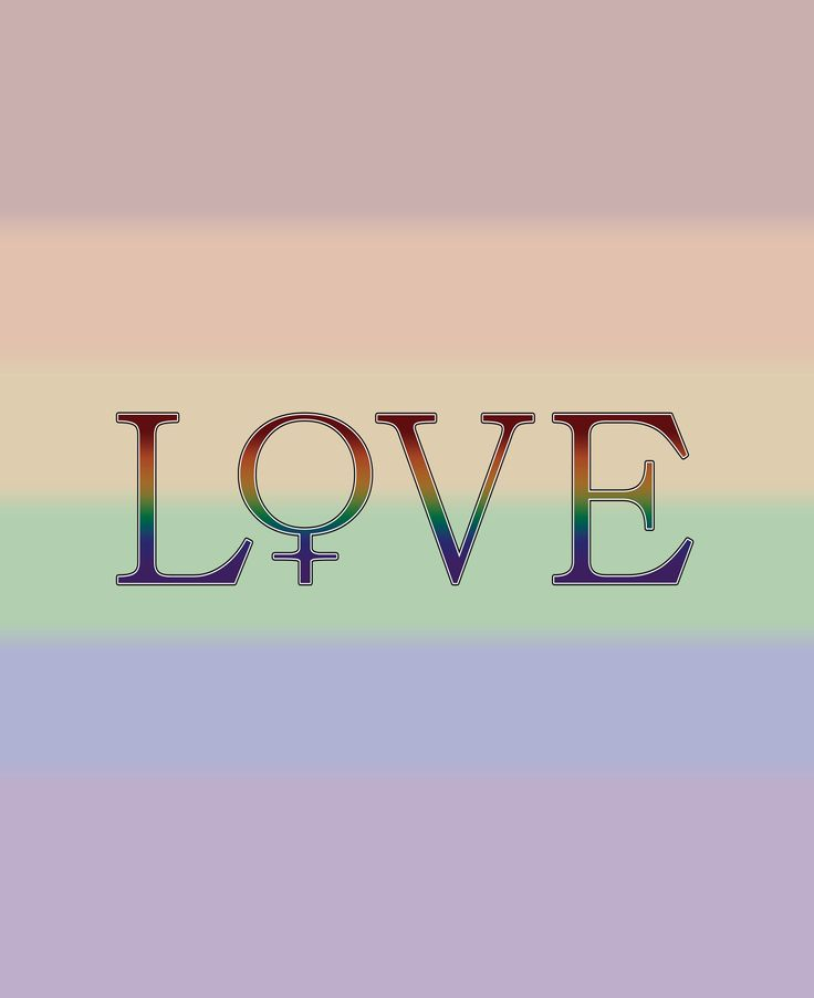 Rainbow colored LOVE with female gender symbol.Click to view Merchandise Available on Zazzle.  For Free Personalization please contact me at - love.life.3984@gmail.com