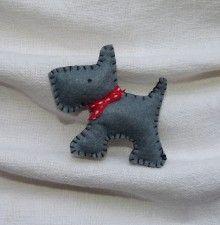 "Handmade brooch ""Doggie"""