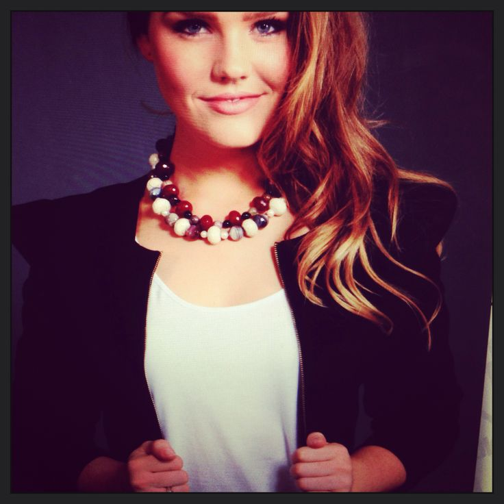 2013 jewellery collection, styling Red Agate & White Turquoise beaded necklace